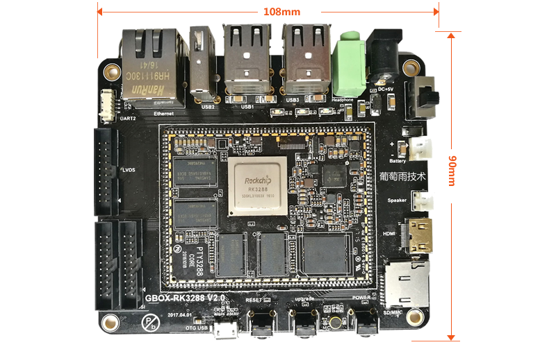 Development board size