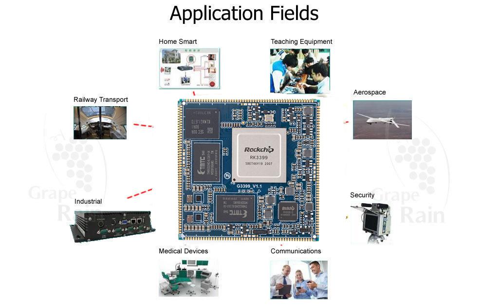Arm Cortex A72 G3399 stamp hole Development Boards – Graperain