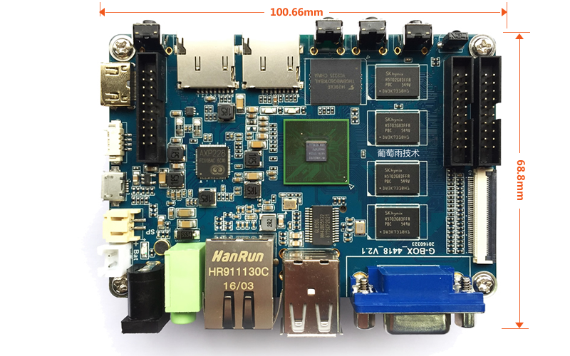 quad core single board computer size